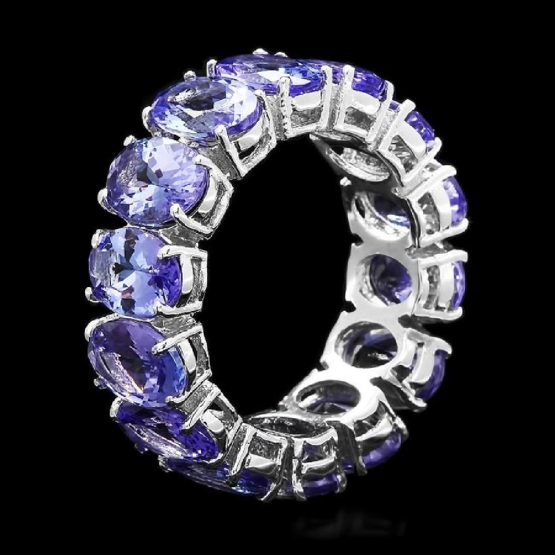 14k White Gold 10.50ct Tanzanite Ring