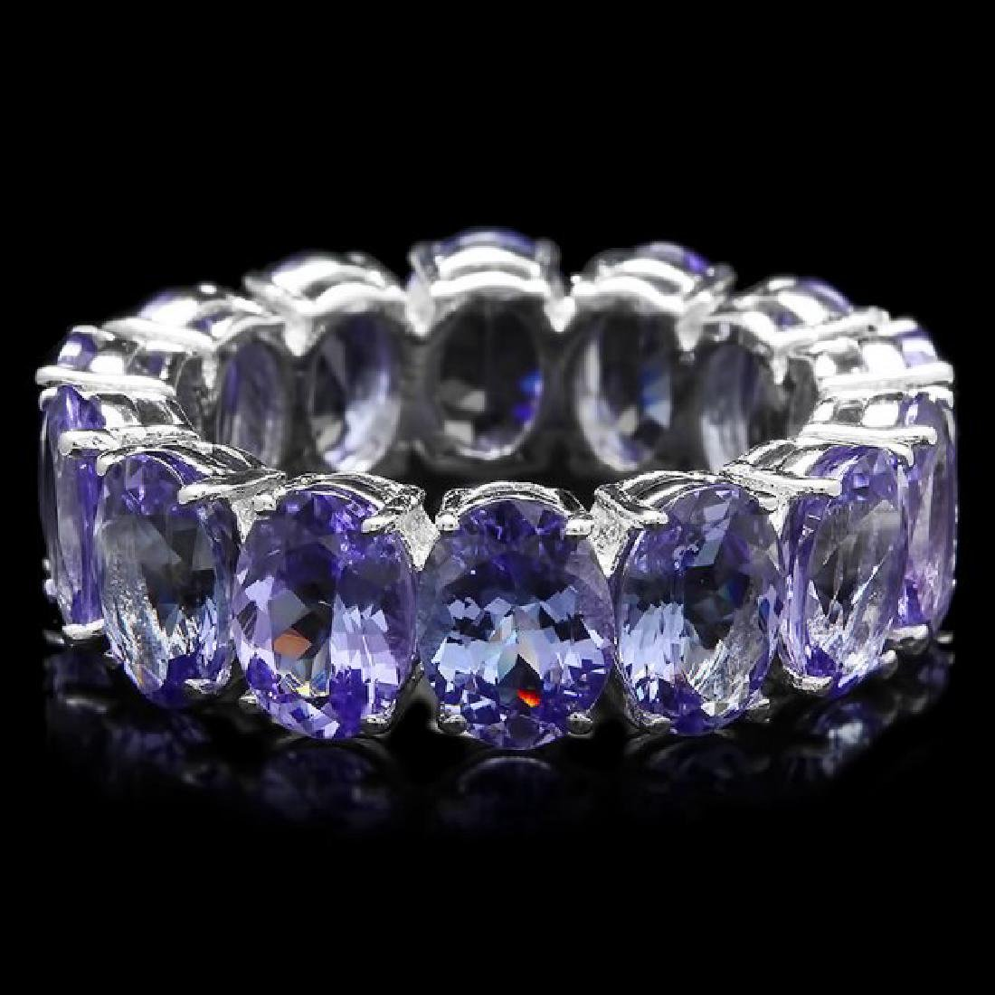14k White Gold 10.50ct Tanzanite Ring - 2