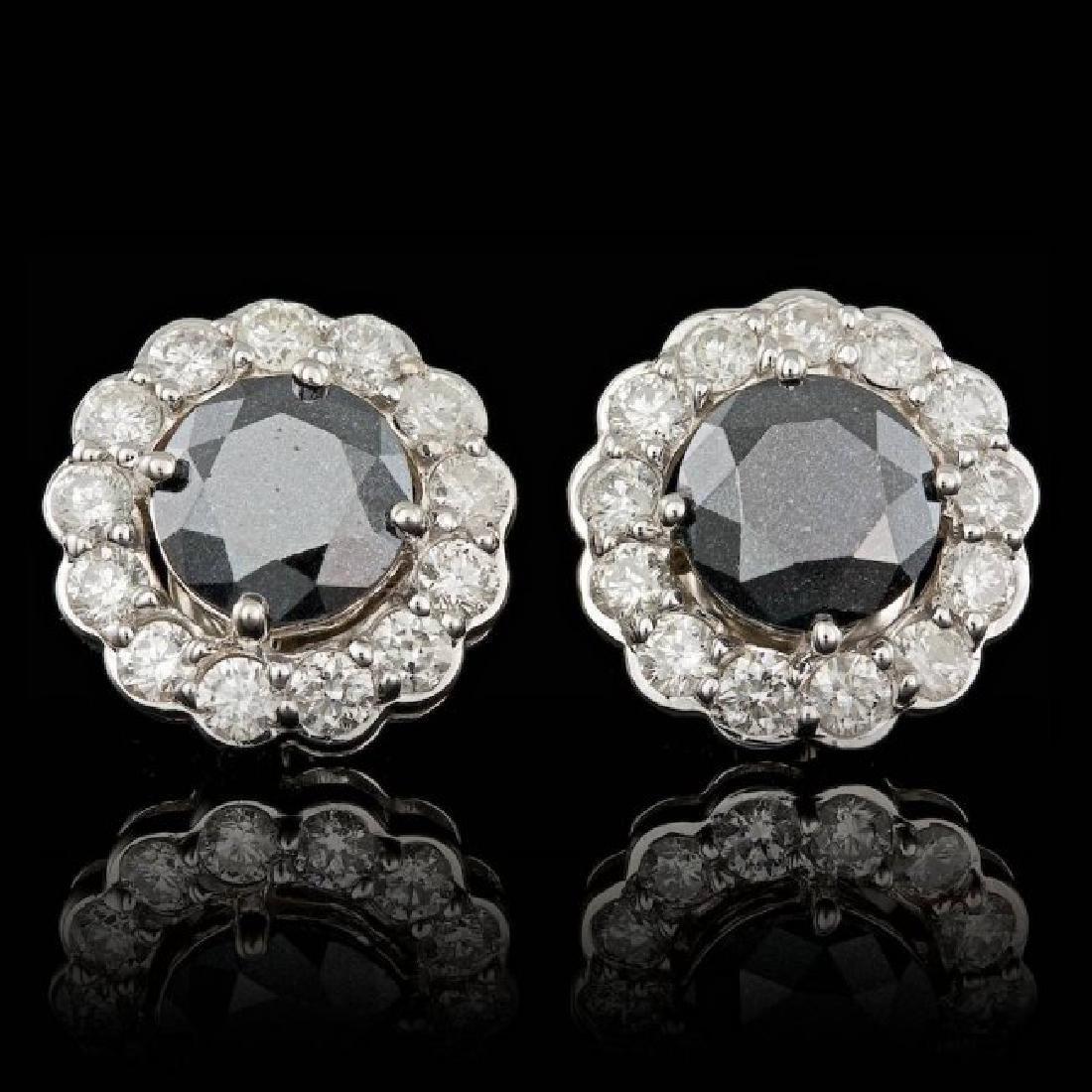 14k White Gold 6ct Diamond Earrings
