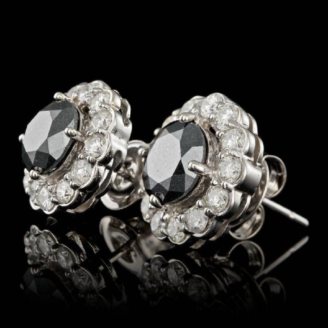 14k White Gold 6ct Diamond Earrings - 2