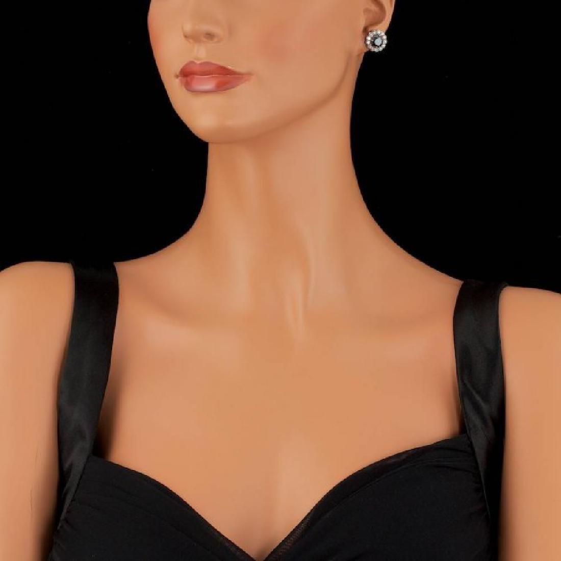 14k White Gold 6ct Diamond Earrings - 4
