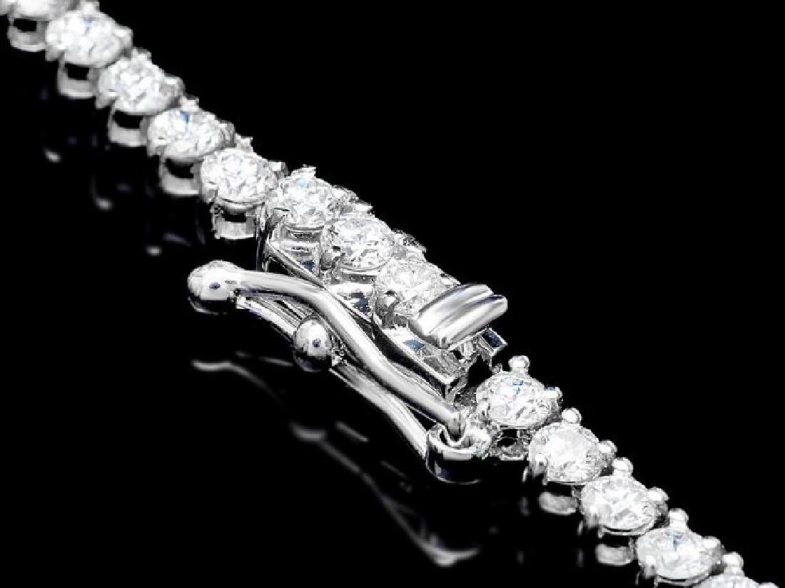 18k White Gold 8.50ct Diamond Necklace - 3