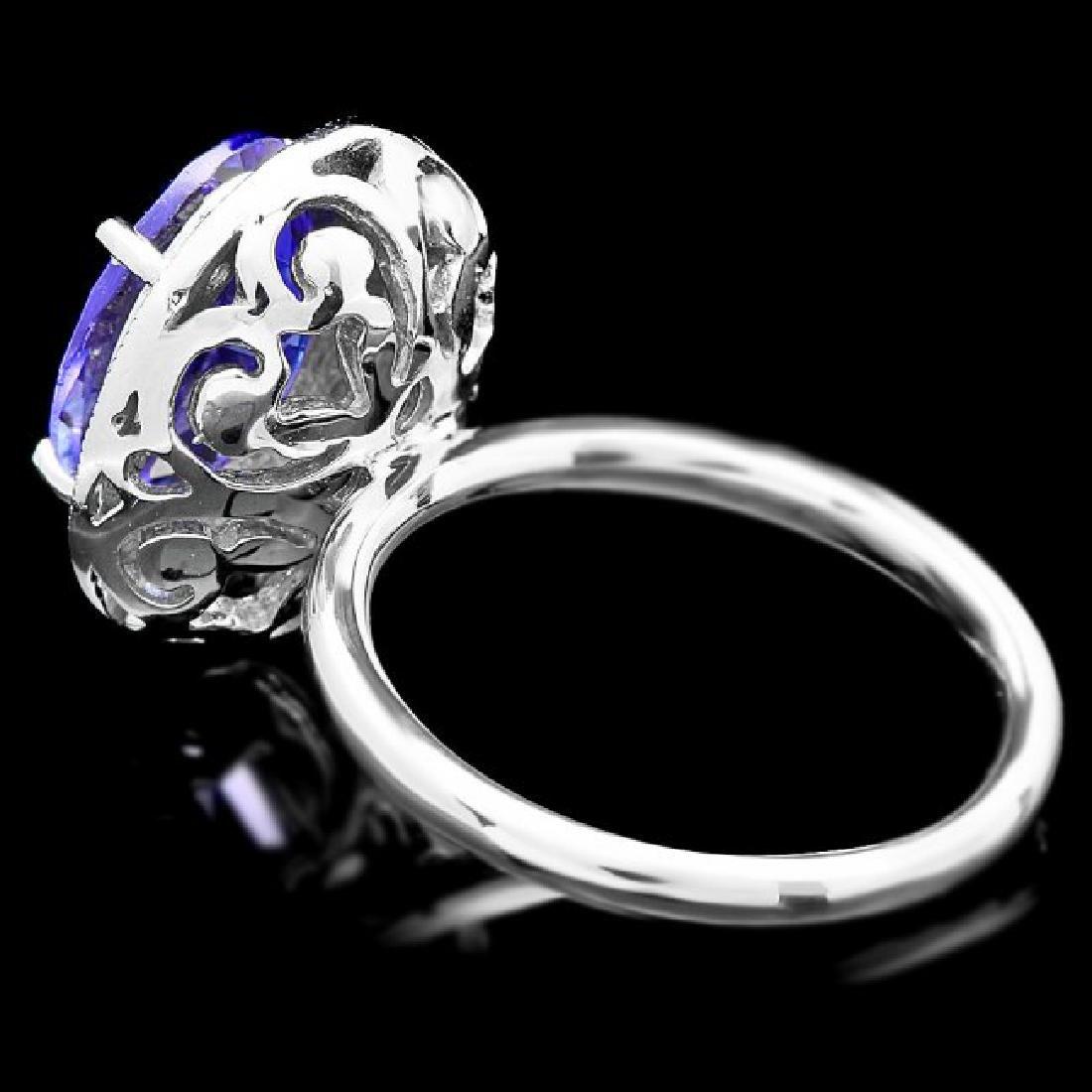 14k Gold 4.00ct Tanzanite 0.35ct Diamond Ring - 5