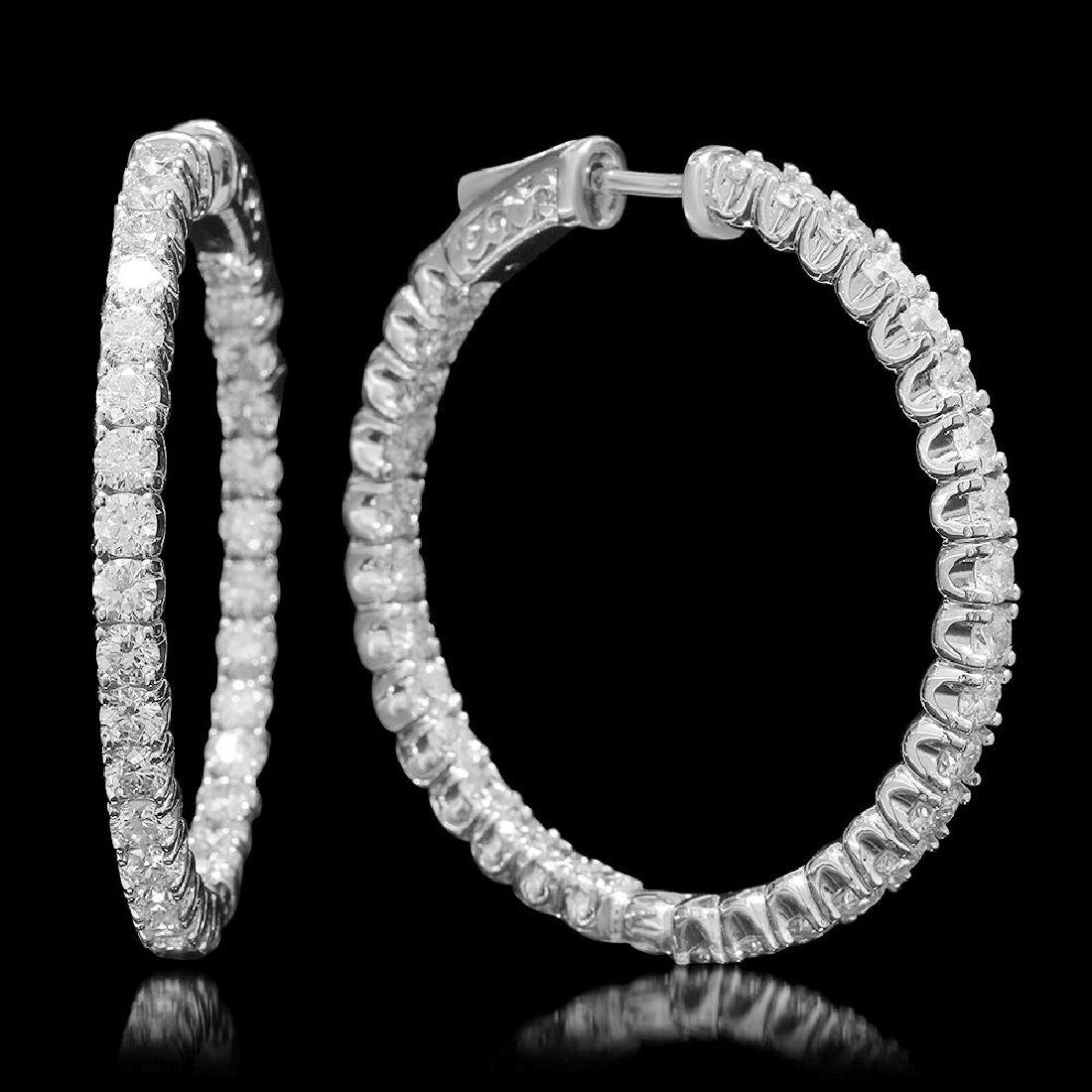 14K Gold 5.08ct Diamond Earrings