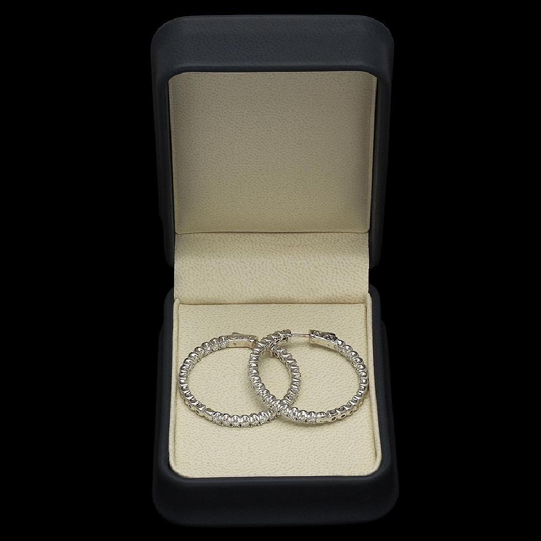 14K Gold 5.08ct Diamond Earrings - 2