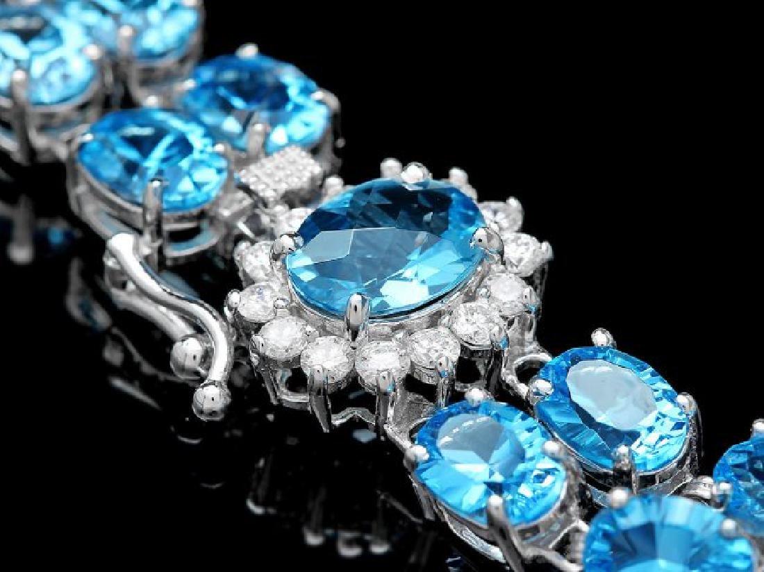 14k Gold 33.5ct Topaz 0.66ct Diamond Bracelet - 2
