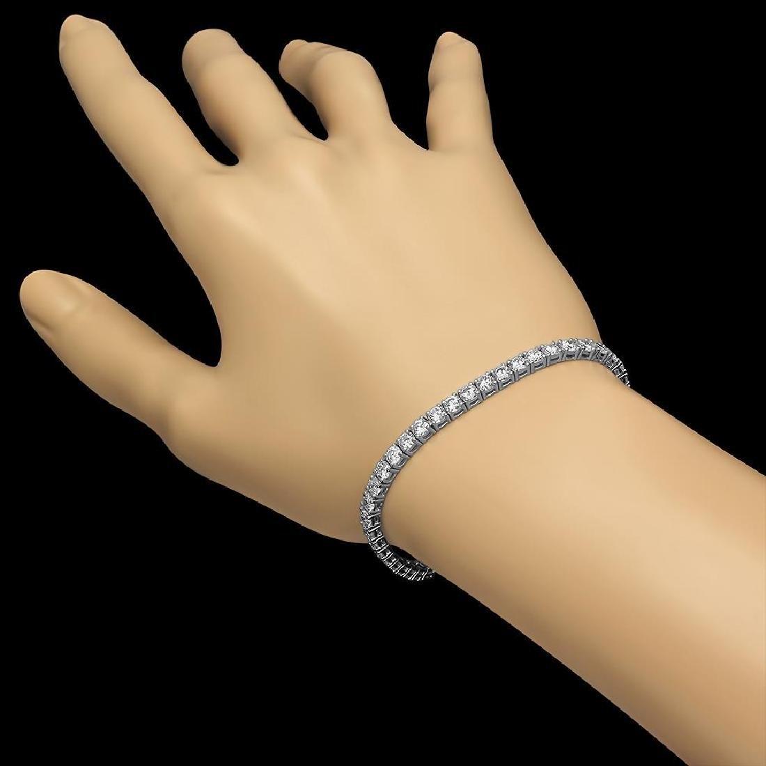 18K Gold 7.82ct Diamond Bracelet - 2
