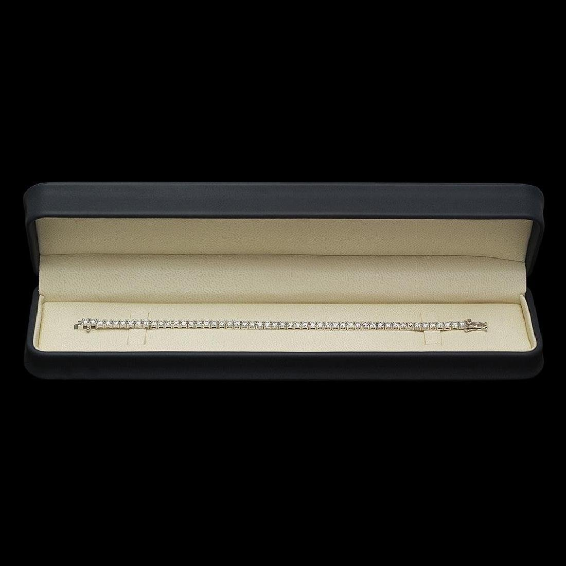 18K Gold 7.82ct Diamond Bracelet - 3