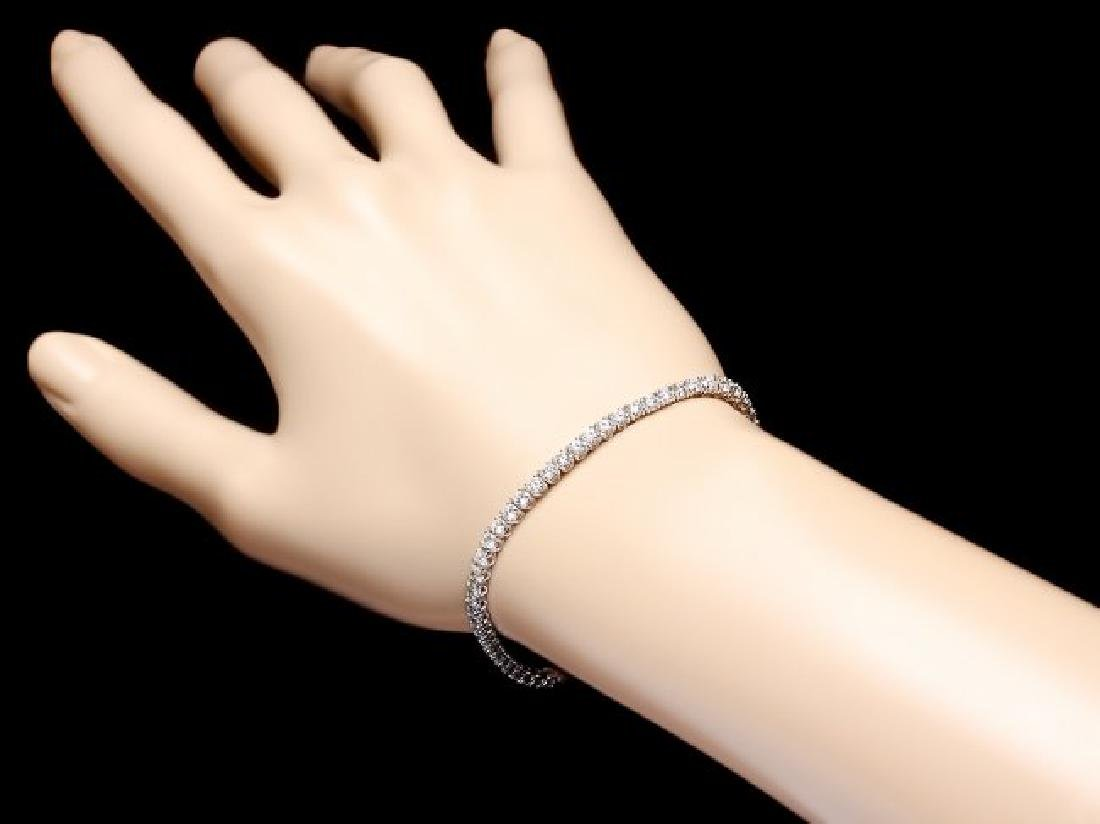18k White Gold 4.50ct Diamond Bracelet - 5