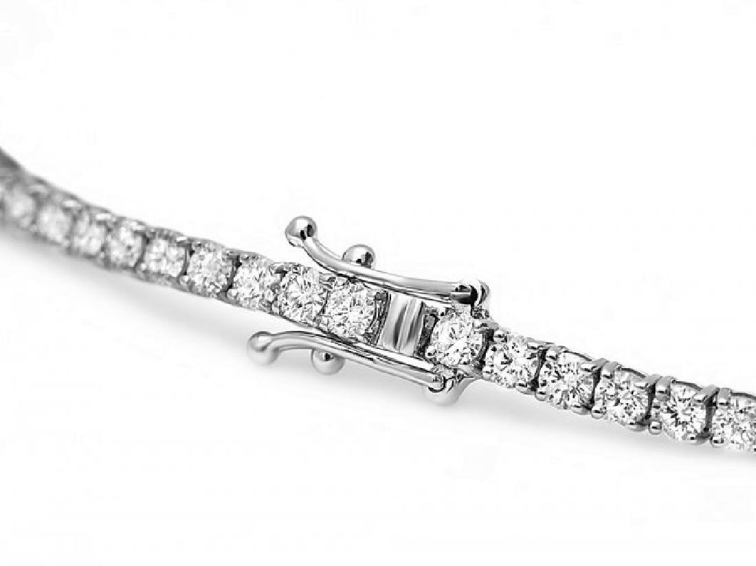 18k White Gold 4.50ct Diamond Bracelet - 3