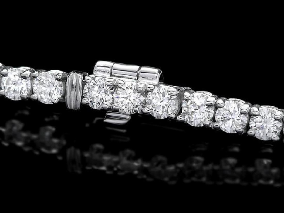 18k White Gold 4.50ct Diamond Bracelet - 2