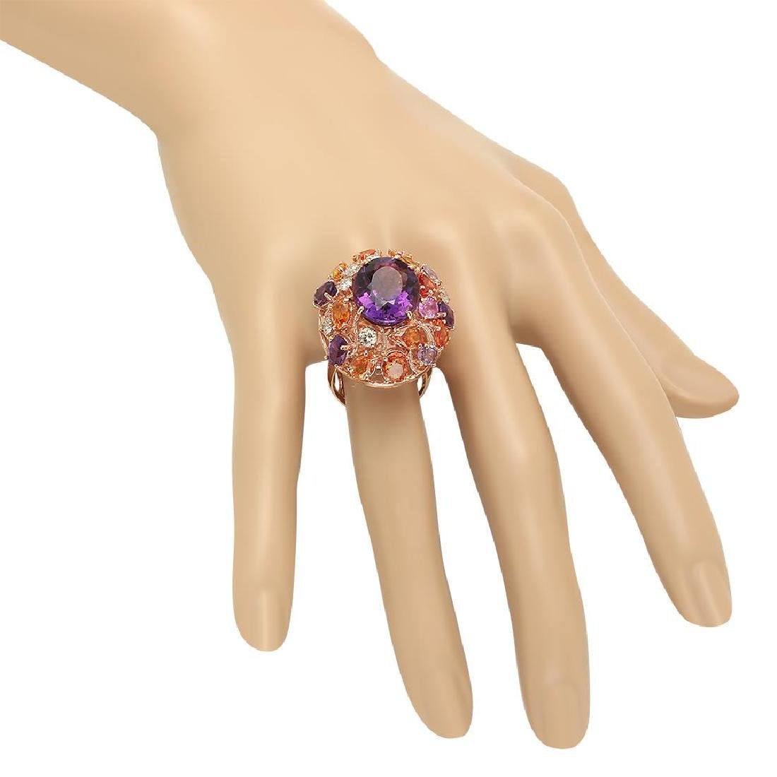 14K Gold 8.31ct Amethyst 6.50ct Sapphire 0.75cts - 3