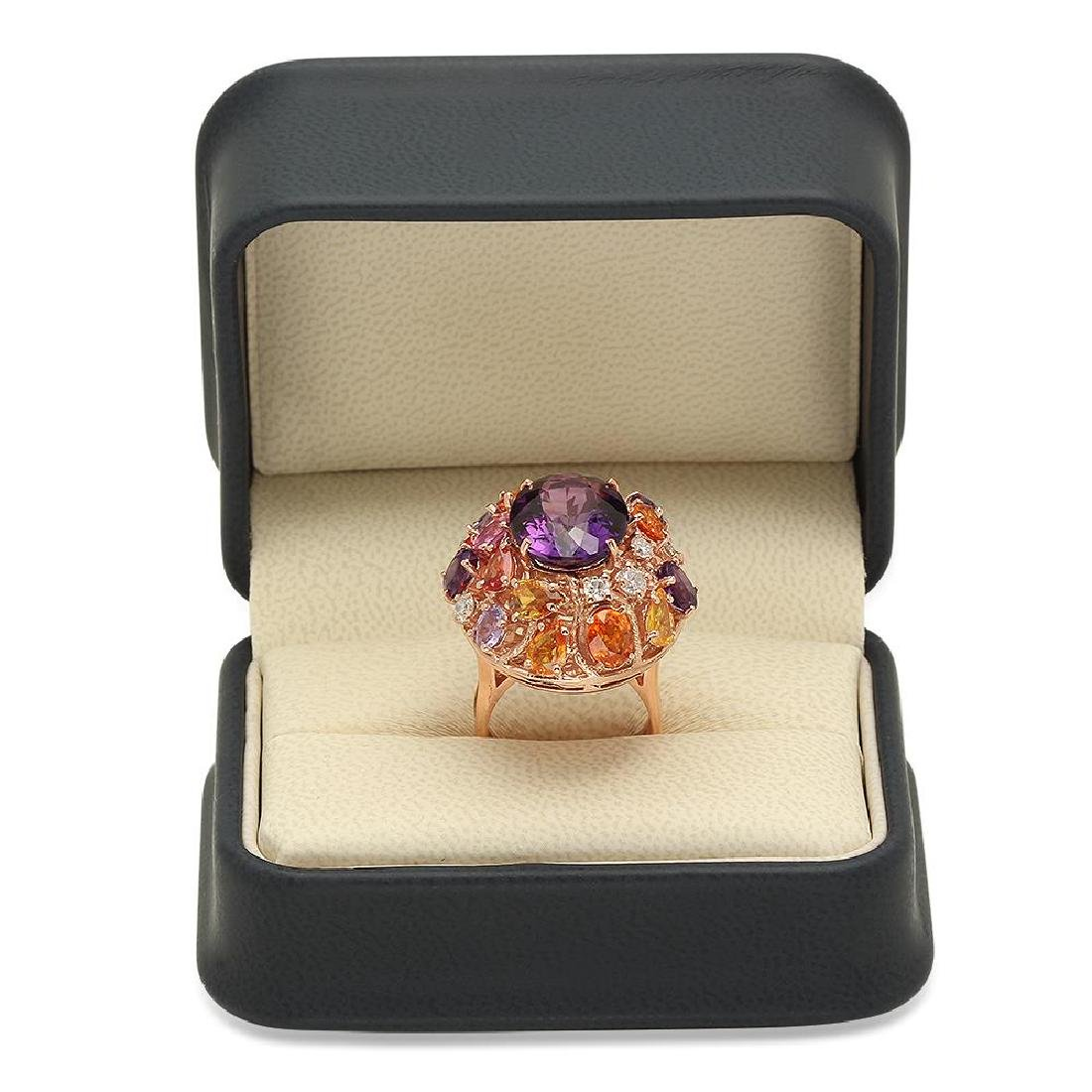 14K Gold 8.31ct Amethyst 6.50ct Sapphire 0.75cts - 4