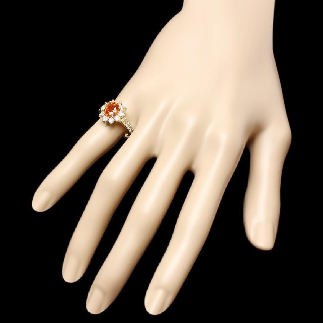 14k Yellow Gold 2.40ct Garnet 1ct Diamond Ring - 3