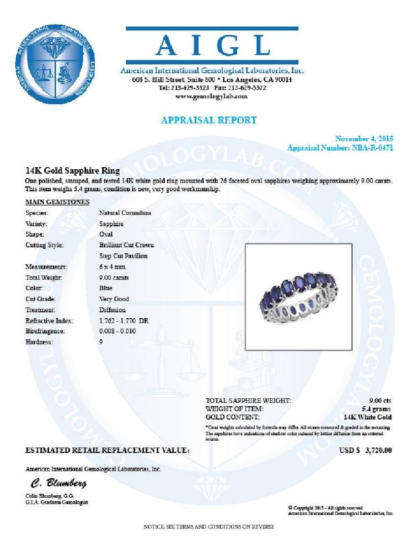 14K Gold 9.00ct Sapphire Ring - 5