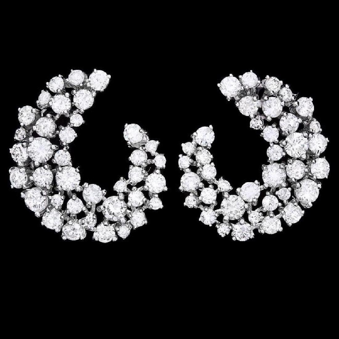 14k White Gold 4.40ct Diamond Earrings