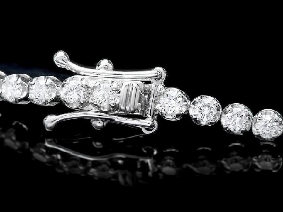 18k White Gold 3.00ct Diamond Bracelet - 3
