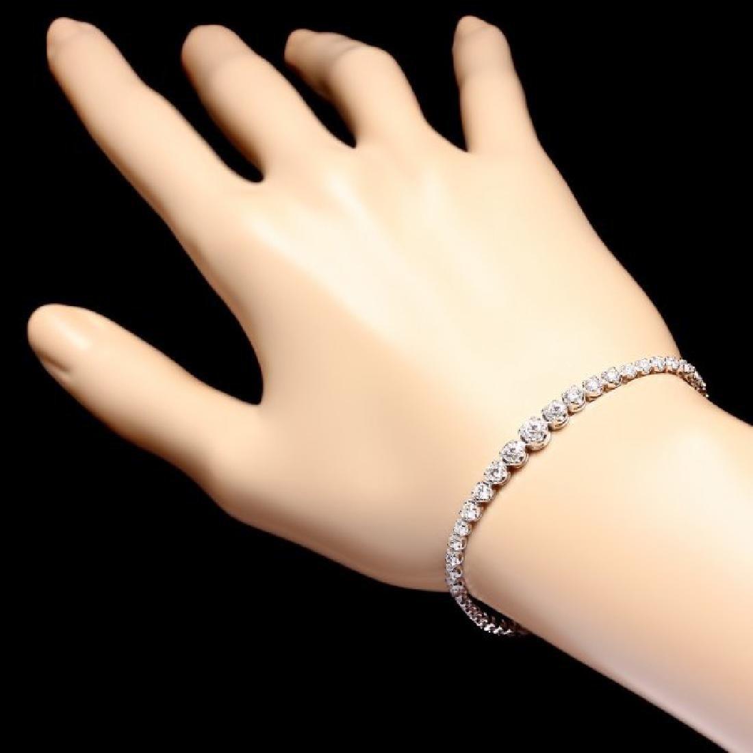 18k White Gold 3.00ct Diamond Bracelet - 5