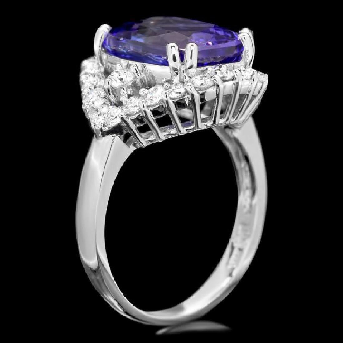 14k Gold 6.00ct Tanzanite 1.20ct Diamond Ring - 3