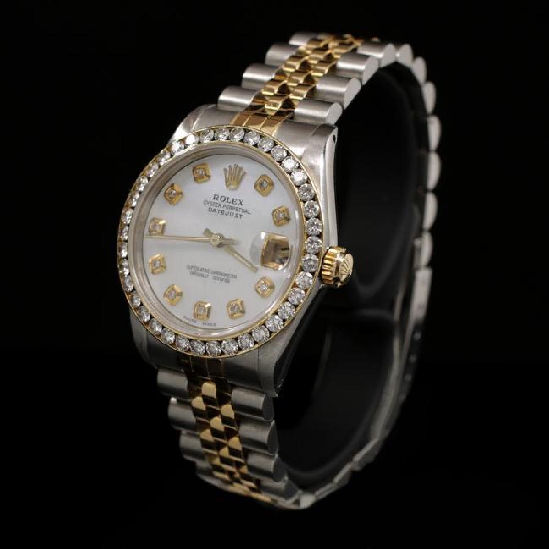 Rolex DateJust Two-Tone 31mm Custom Diamond Bezel - 2