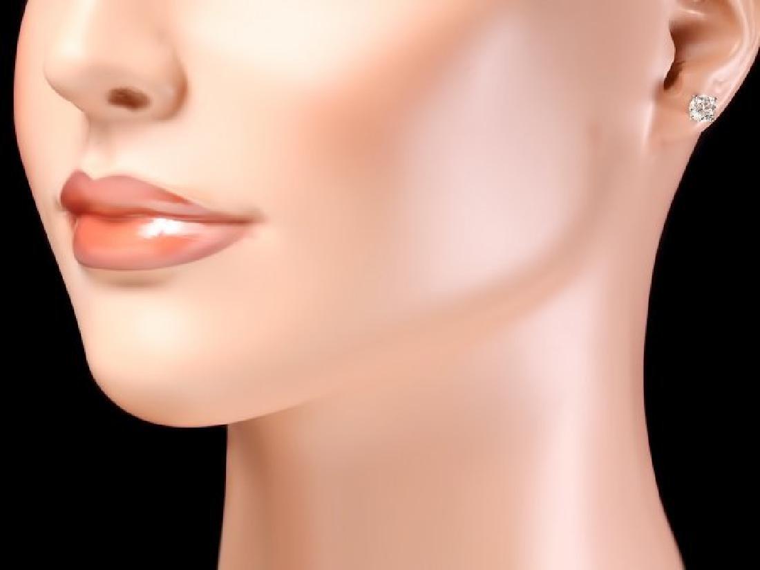 14k White Gold 1.50ct Diamond Earrings - 4
