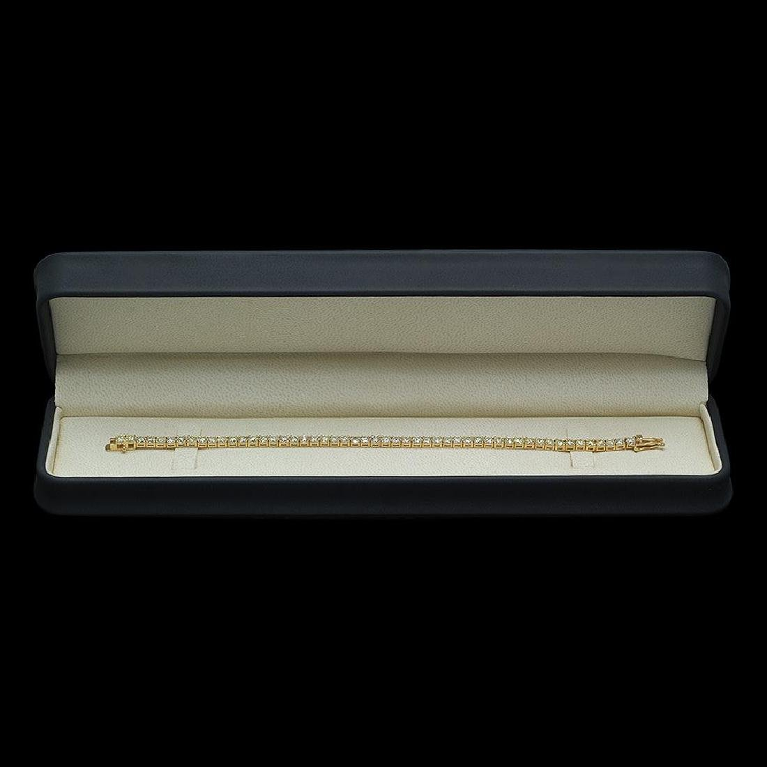 18K Gold 7.85ct Diamond Bracelet - 3