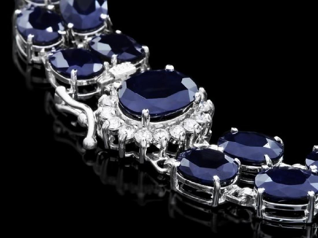14k Gold 50ct Sapphire 0.50ct Diamond Bracelet