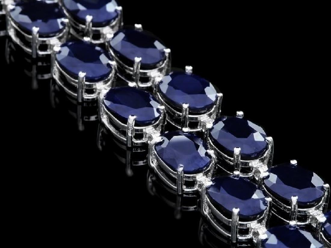 14k Gold 50ct Sapphire 0.50ct Diamond Bracelet - 3