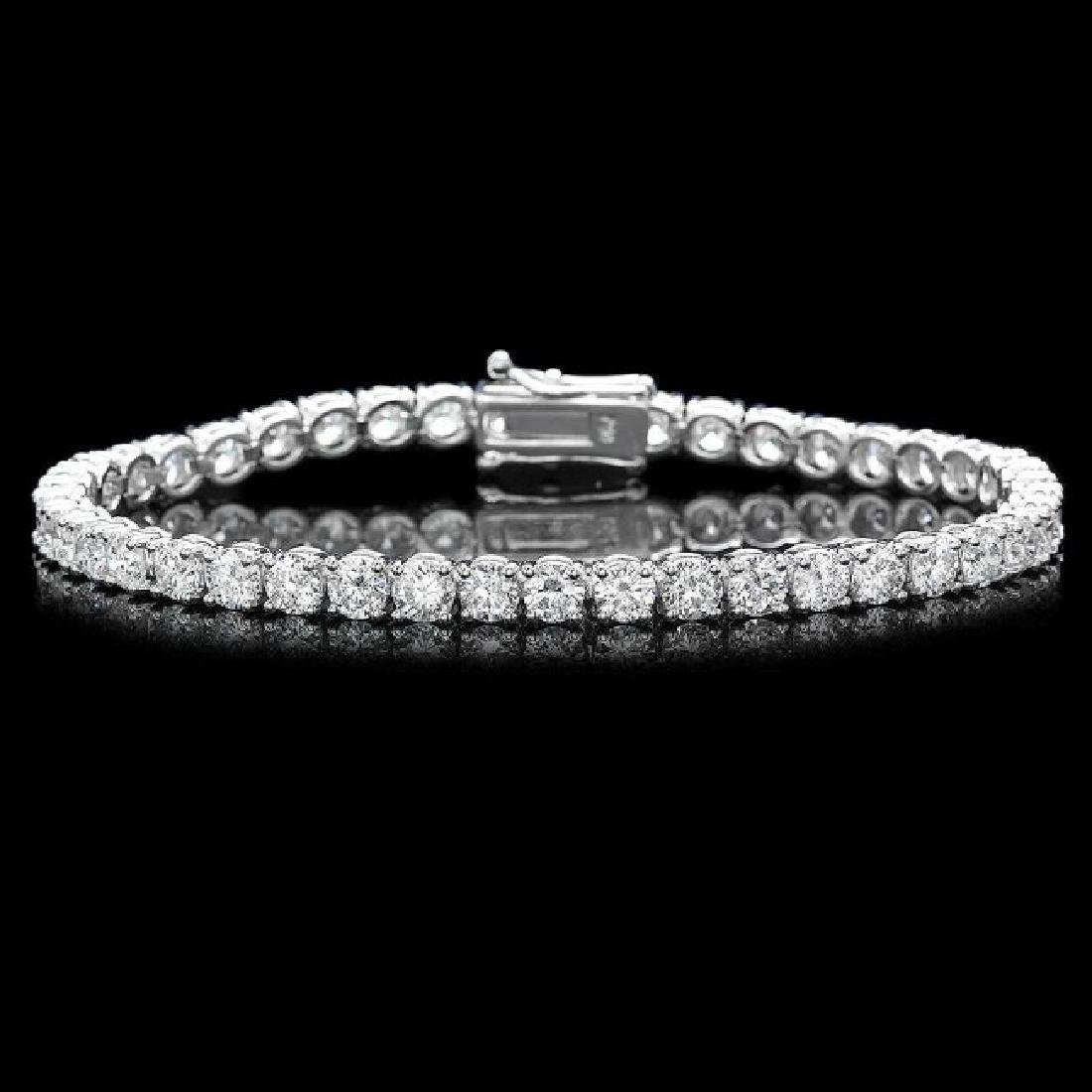 18k White Gold 11.50ct Diamond Bracelet