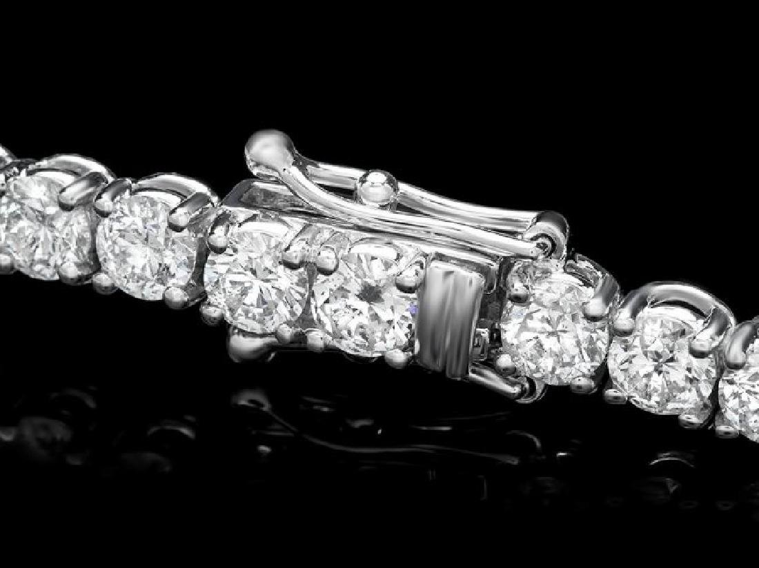 18k White Gold 11.50ct Diamond Bracelet - 2