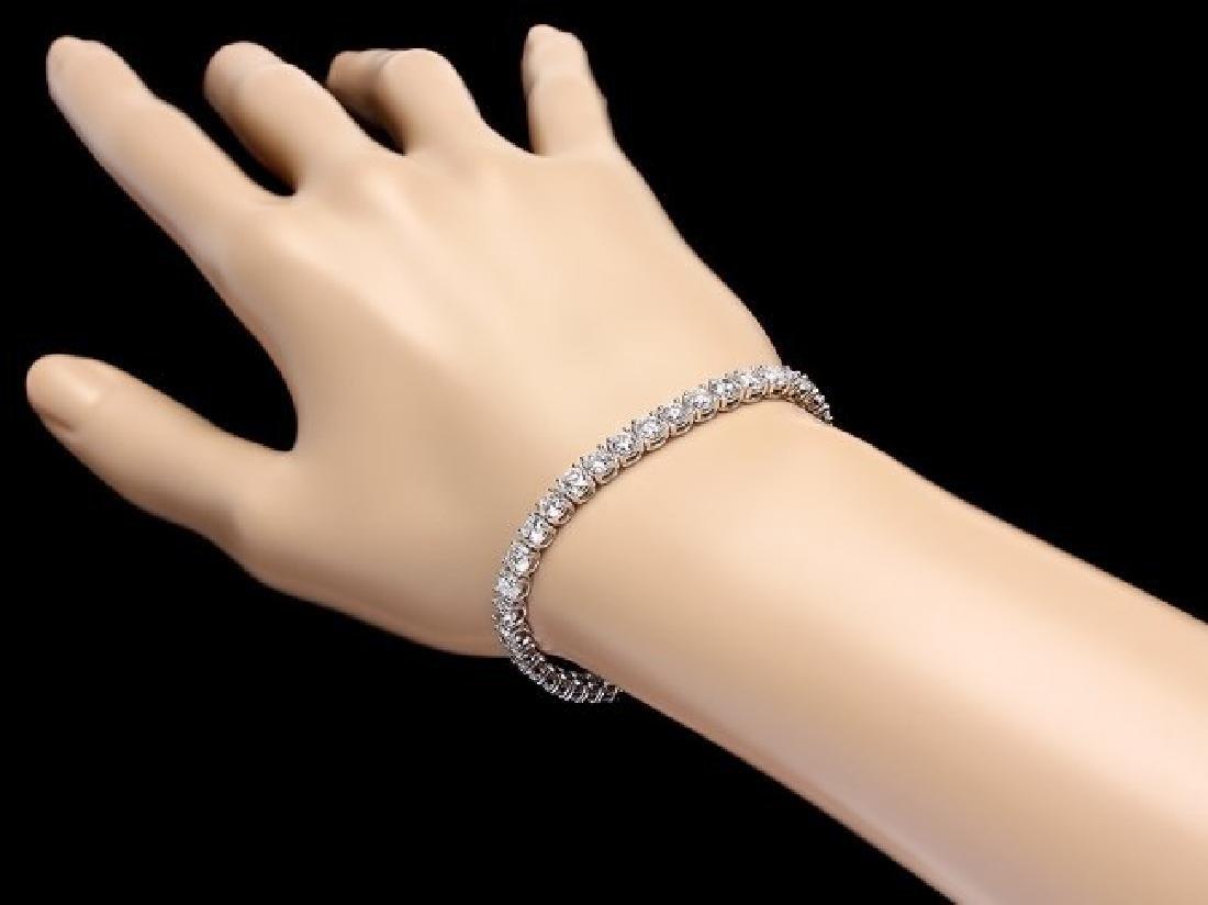 18k White Gold 11.50ct Diamond Bracelet - 5