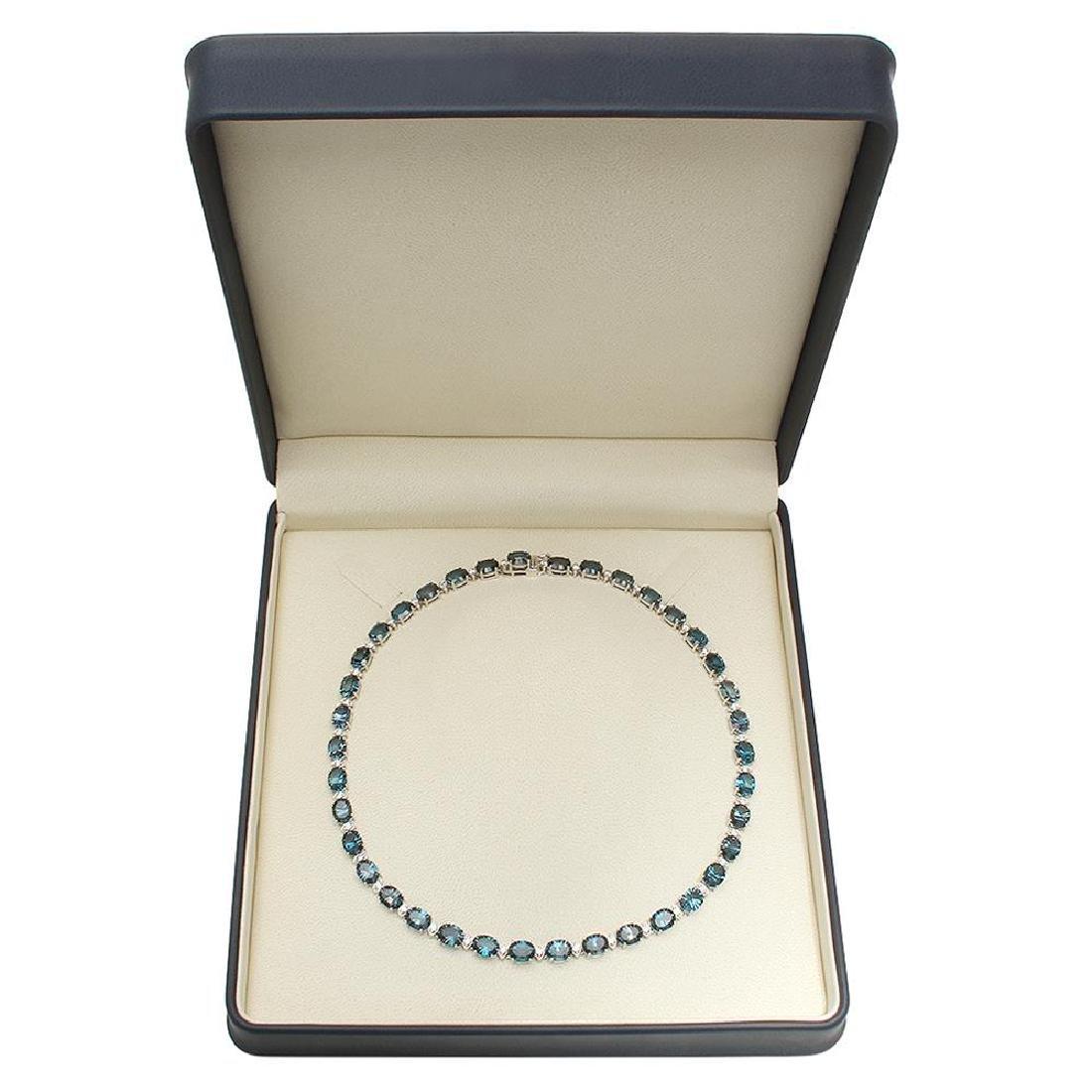 14K Gold 56.38ct Topaz 2.73ct Diamond Necklace - 4