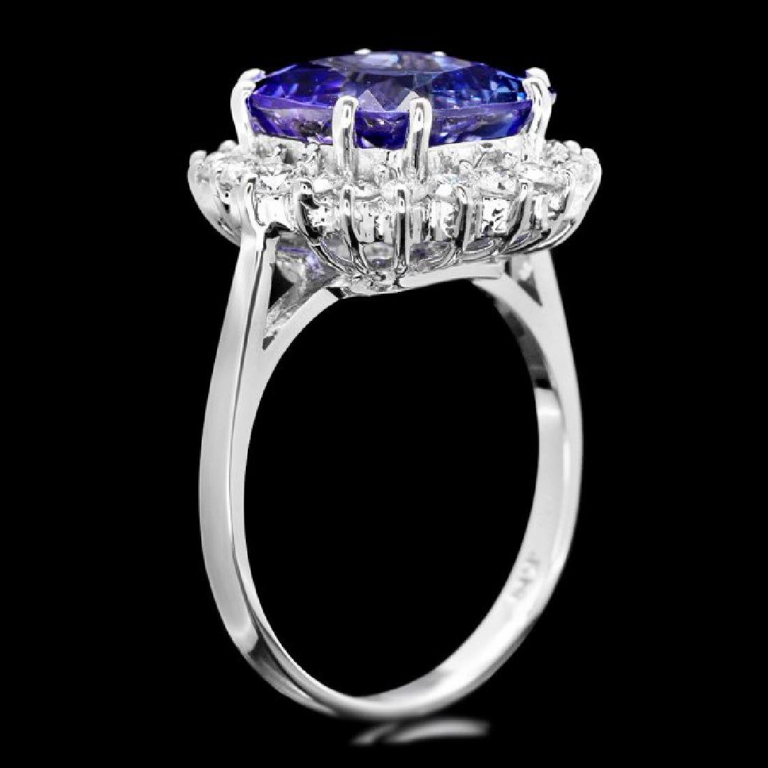 14k Gold 5.50ct Tanzanite 0.80ct Diamond Ring - 3