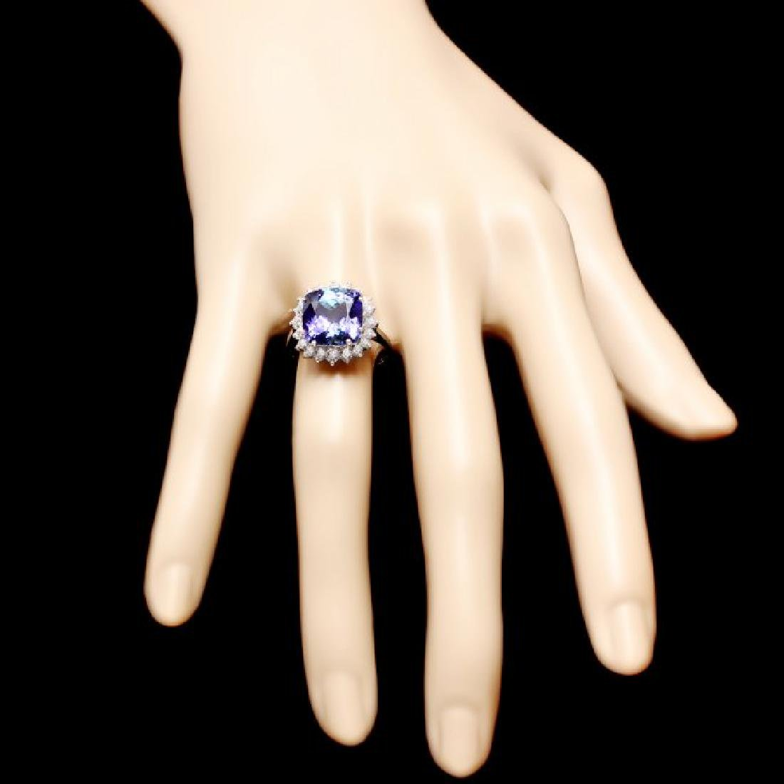 14k Gold 5.50ct Tanzanite 0.80ct Diamond Ring - 4