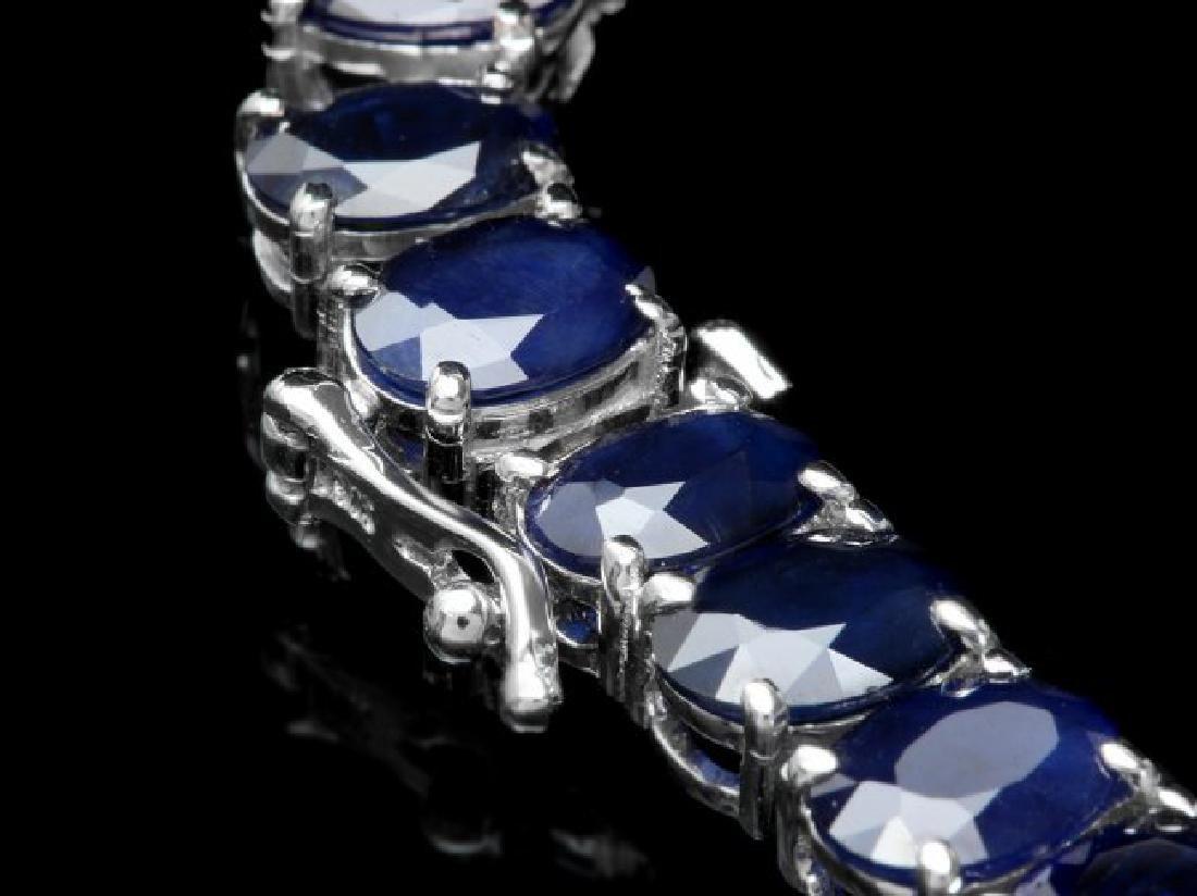 14k Gold 94ct Sapphire 1.80ct Diamond Pendant - 4