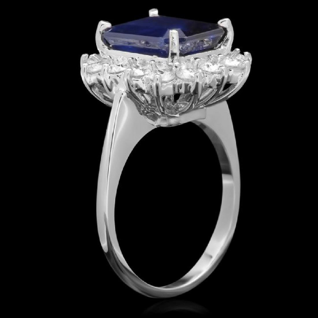 14k Gold 5.00ct Sapphire 1.15ct Diamond Ring - 2