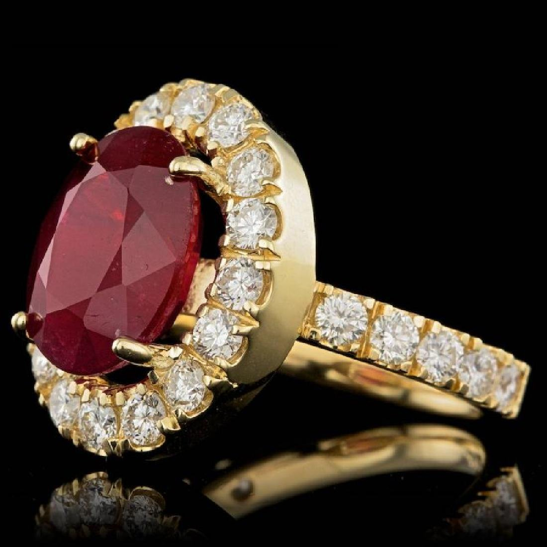 14k Yellow Gold 7.50ct Ruby 1.70ct Diamond Ring - 2
