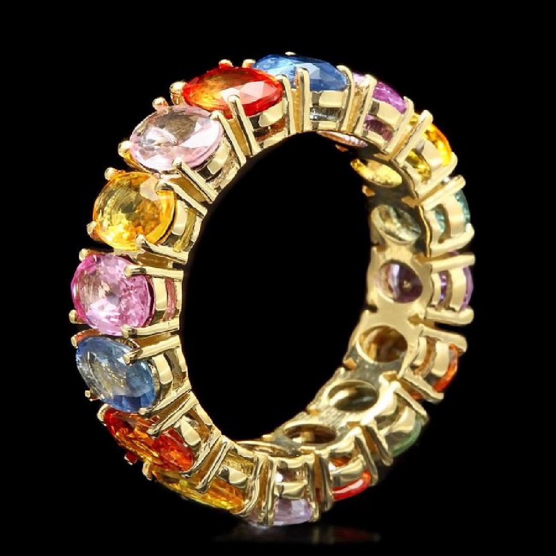 14k Yellow Gold 8.00ct Sapphire Ring - 2