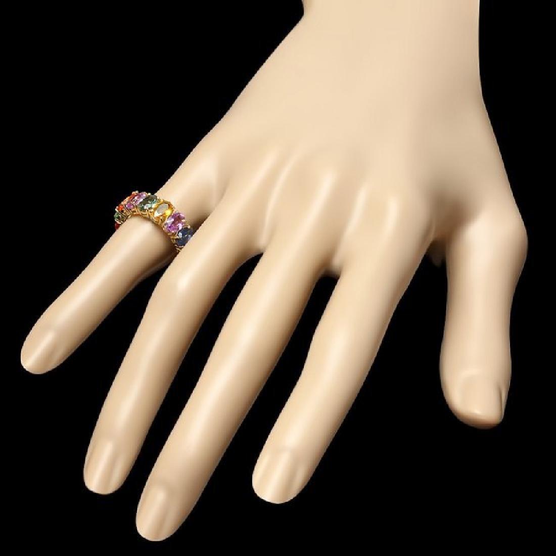 14k Yellow Gold 8.00ct Sapphire Ring - 3