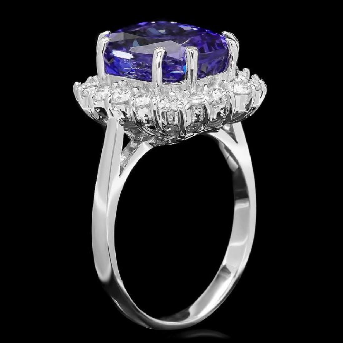 14k Gold 6.00ct Tanzanite 0.90ct Diamond Ring - 2