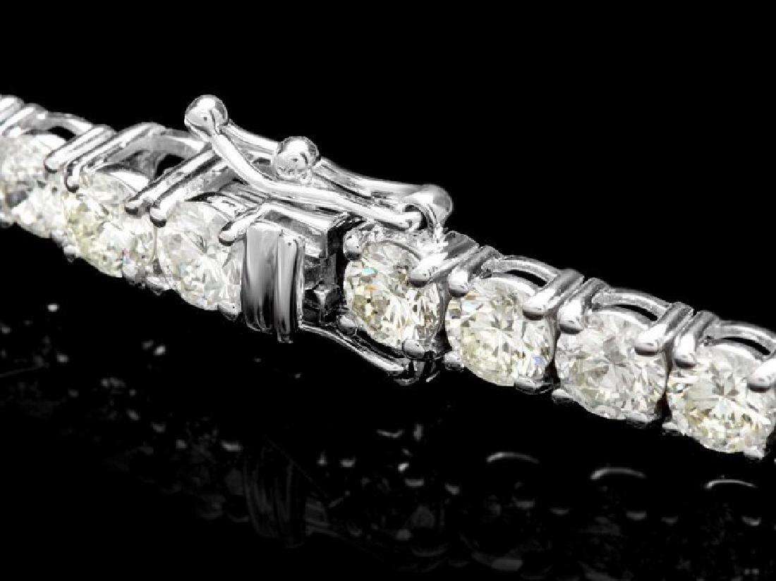 18k White Gold 12.00ct Diamond Tennis Bracelet - 2