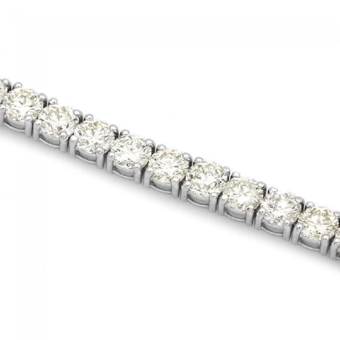 18k White Gold 12.00ct Diamond Tennis Bracelet - 3