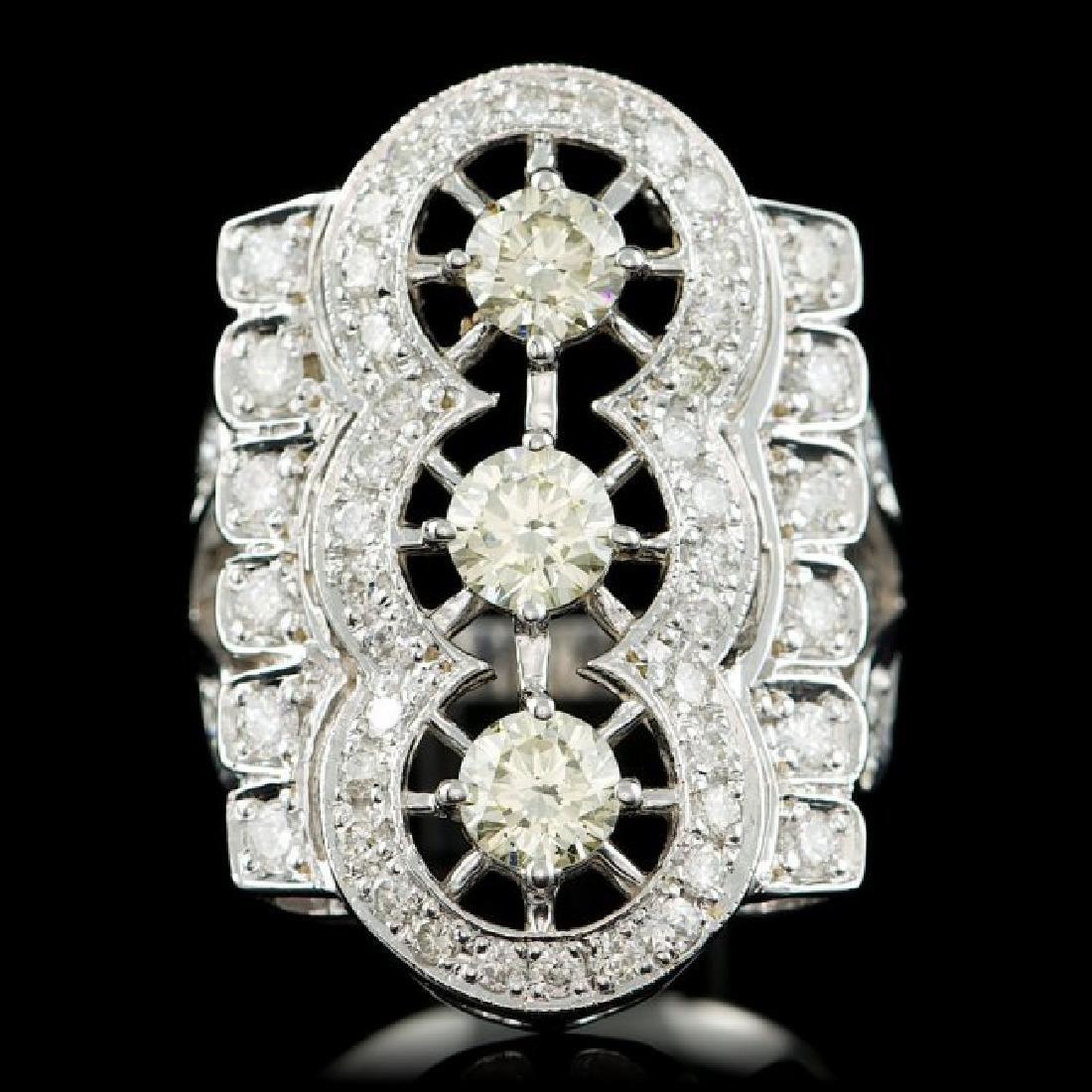 14k White Gold 2.7ct Diamond Ring