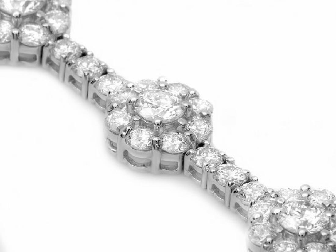 18k White Gold 8.20ct Diamond Bracelet - 2