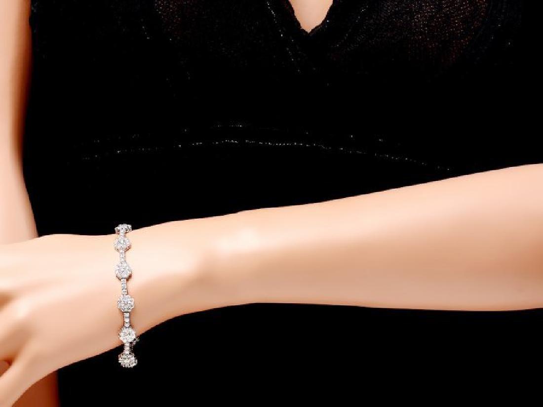 18k White Gold 8.20ct Diamond Bracelet - 4