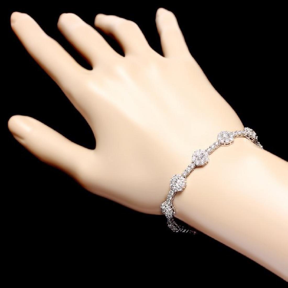 18k White Gold 8.20ct Diamond Bracelet - 5