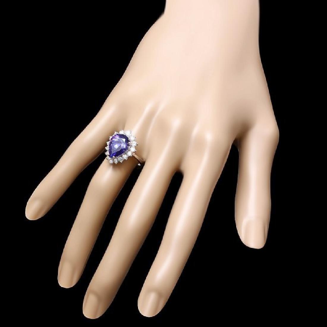 14k Gold 5.50ct Tanzanite 1.00ct Diamond Ring - 3