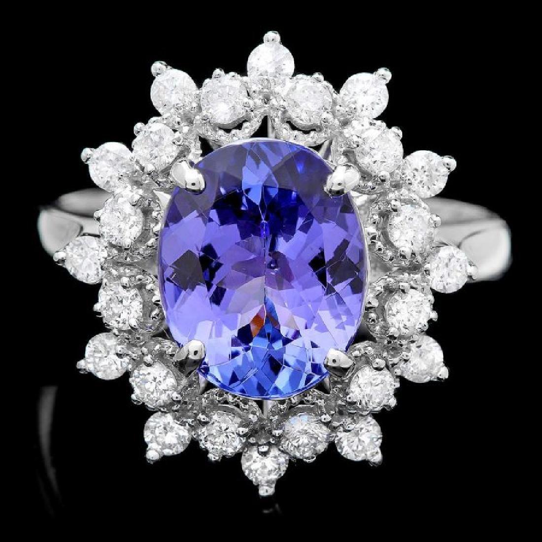 14k Gold 2.60ct Tanzanite 0.65ct Diamond Ring