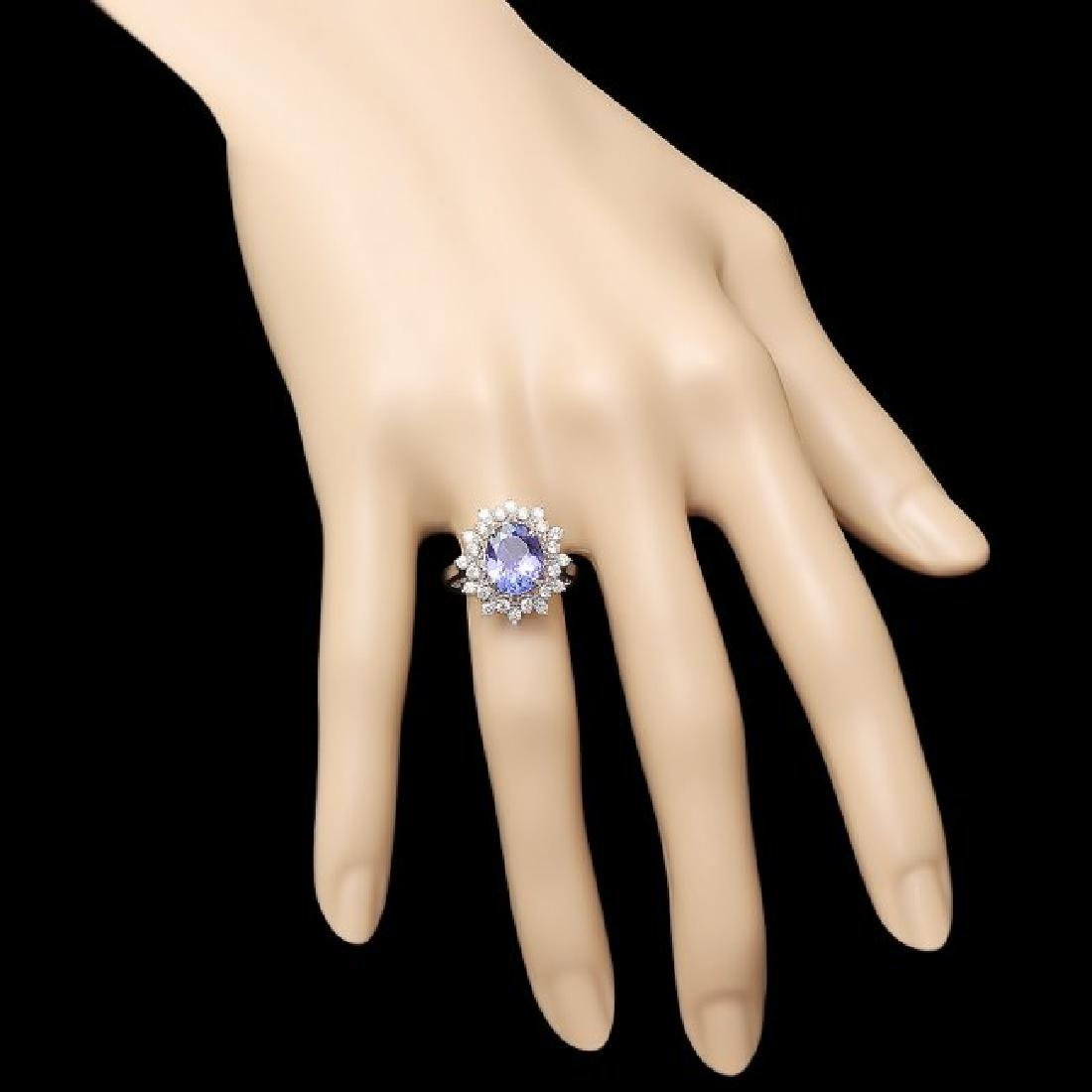 14k Gold 2.60ct Tanzanite 0.65ct Diamond Ring - 4