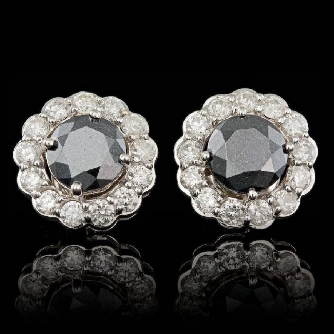 14k White Gold 6ct Diamond Earrings